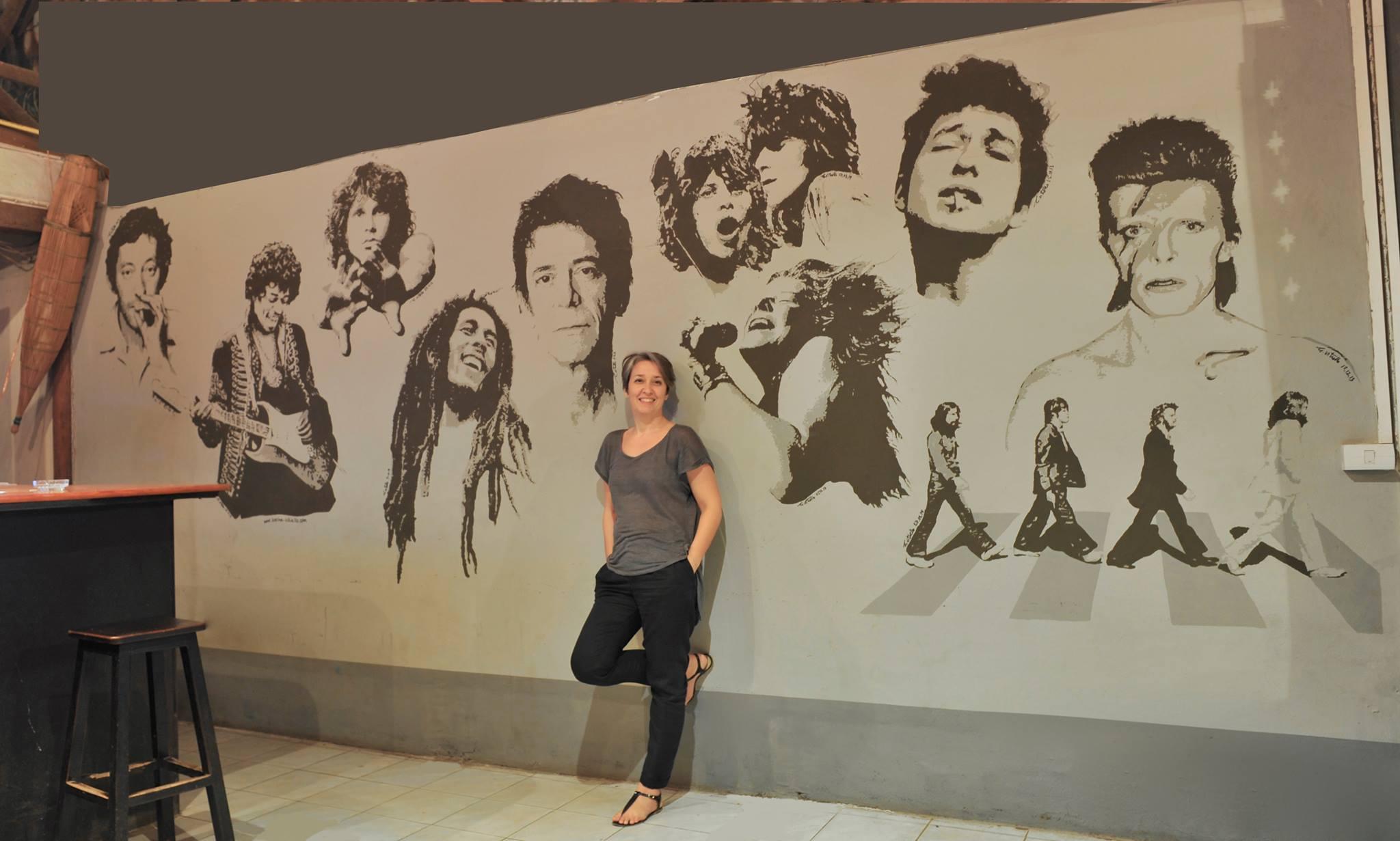 Peinture Murale Vientiane Laos